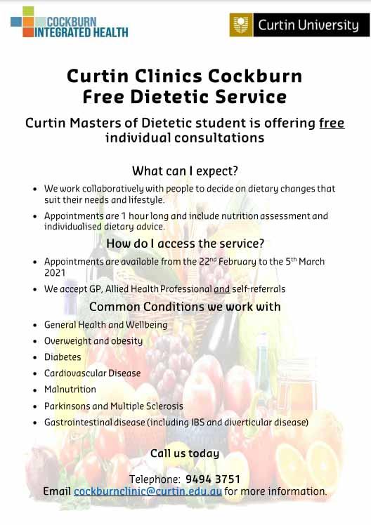 Free dietetic service